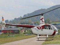 Aterrizando en el helipuerto