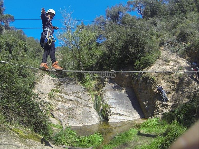 1.35米高的悬桥