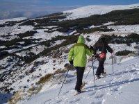 雪鞋远足内华达山脉2小时