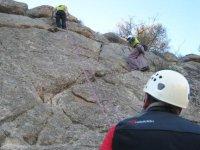 Escalando en los Montes de Toledo