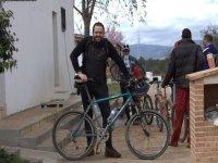 Man prepared for bike route