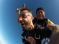 Emoción durante el salto en paracaídas