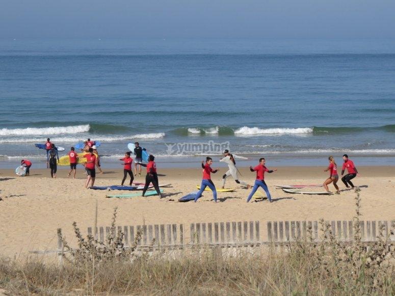 Esercizi sulla spiaggia