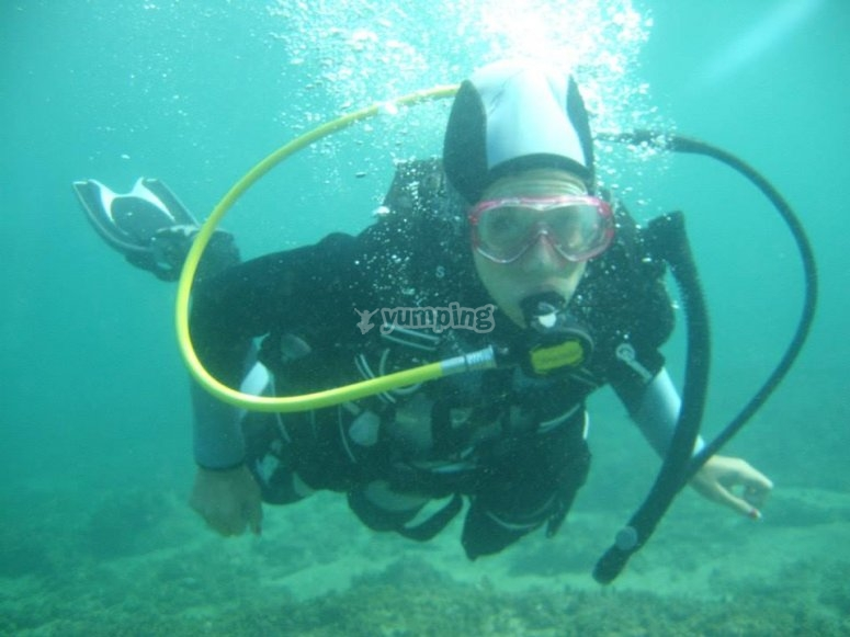 Explorando el fondo marino