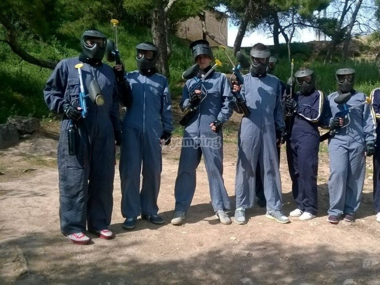 Well protected to play paintball