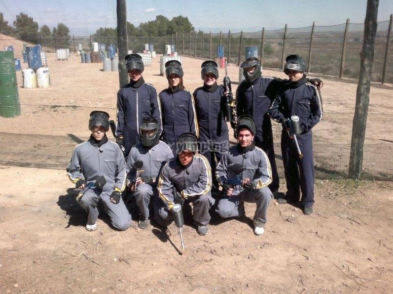 The full paintball team