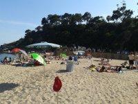 La playa en la que trabajamos