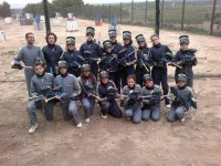 Playing paintball in Lleida