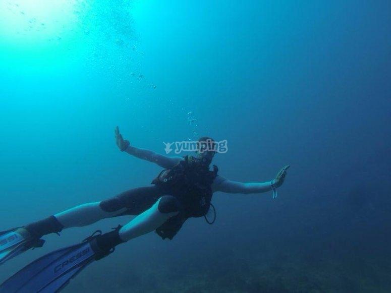 在阿梅特拉潜水
