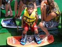 Boy with his wake board