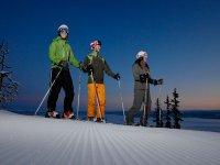 准备高山滑雪