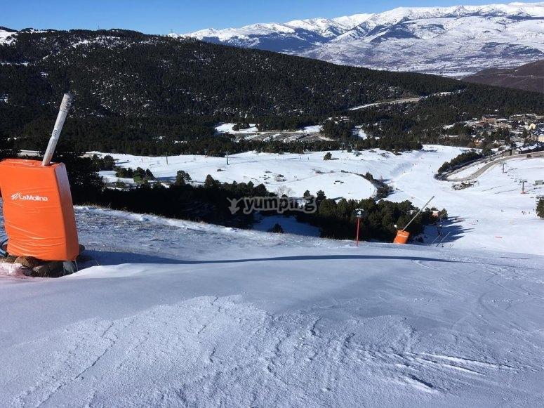 Alquiler material de snow en La Molina