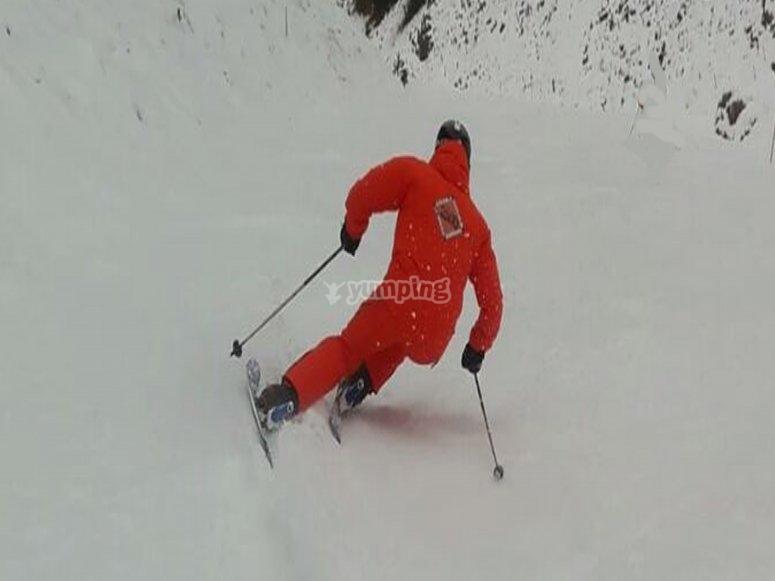 滑雪技巧班