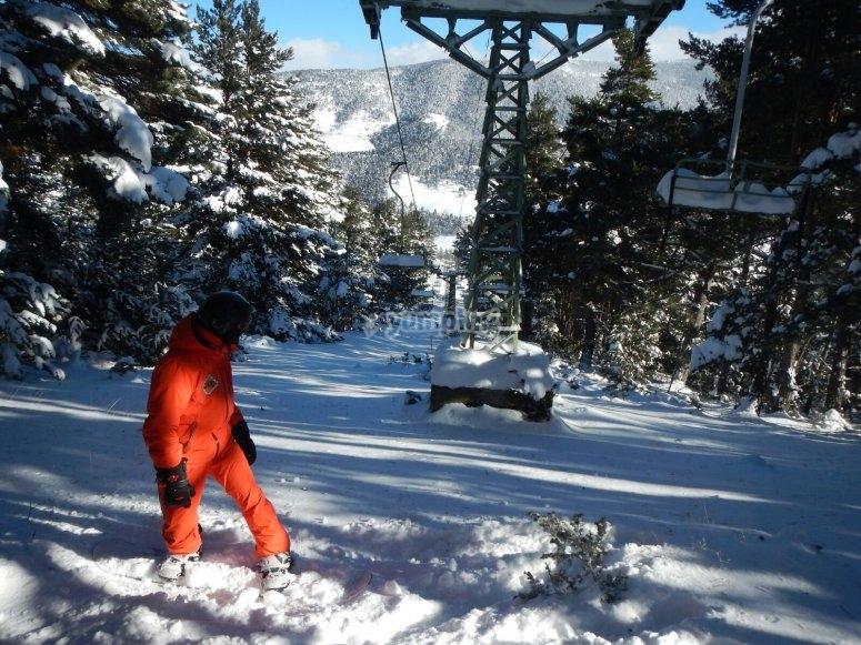 Freeride滑雪下降