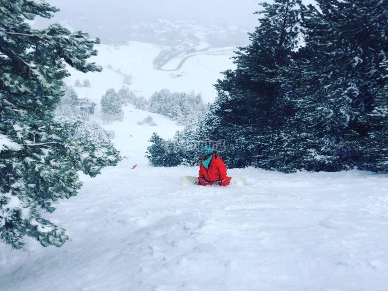 在莫利纳学习自由滑雪板