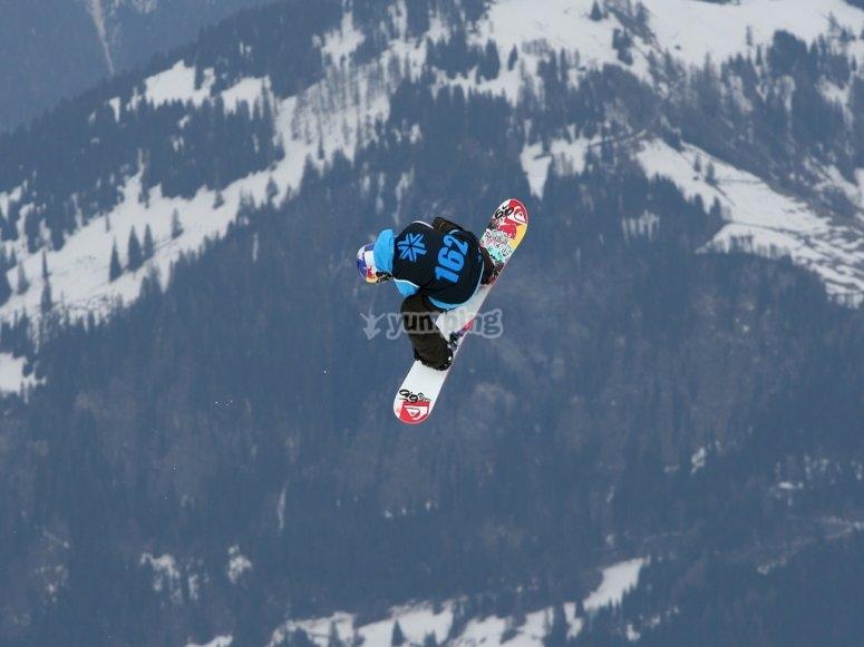 Practica snowboard