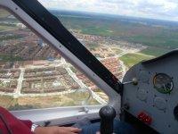Volando sobre las urbanizaciones de Madrid