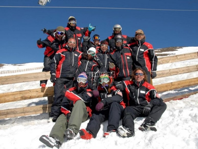 组滑雪板监视器