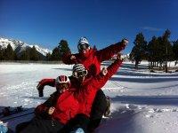 Un día en la nieve increible