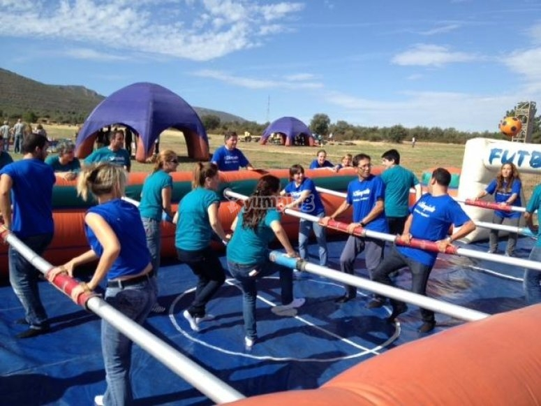 Human table football rental
