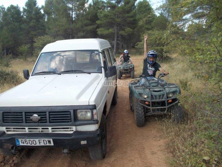 Conduciendo un quad