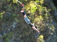 Bungee jumping by the feet