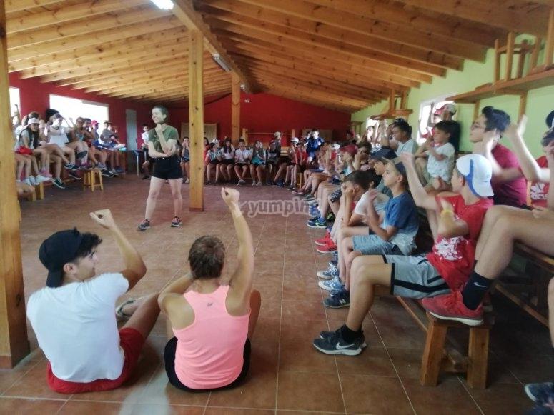 Concursos durante el campamento