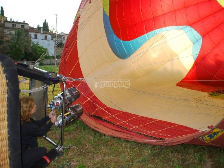 为气球充气