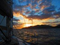 Atardecer desde el barco