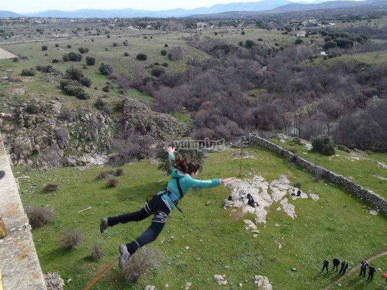 Salto de puenting Sierra de Madrid