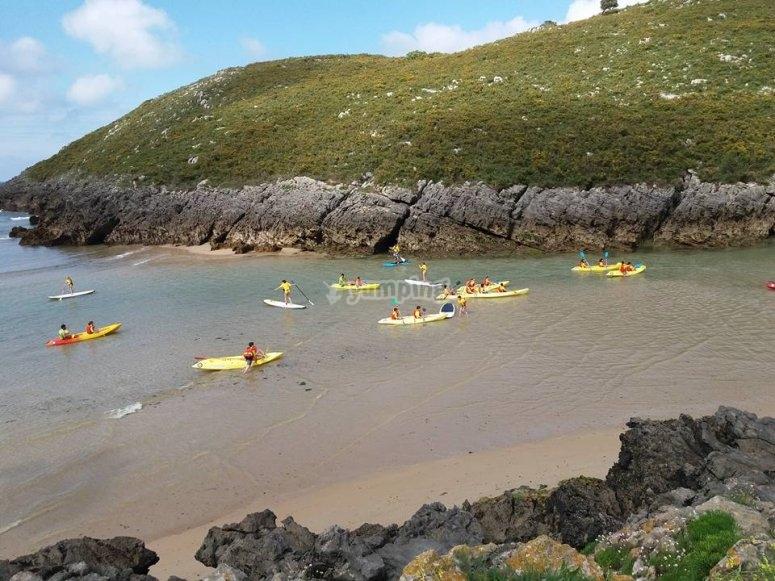 Kayak sulla Costa de Llanes