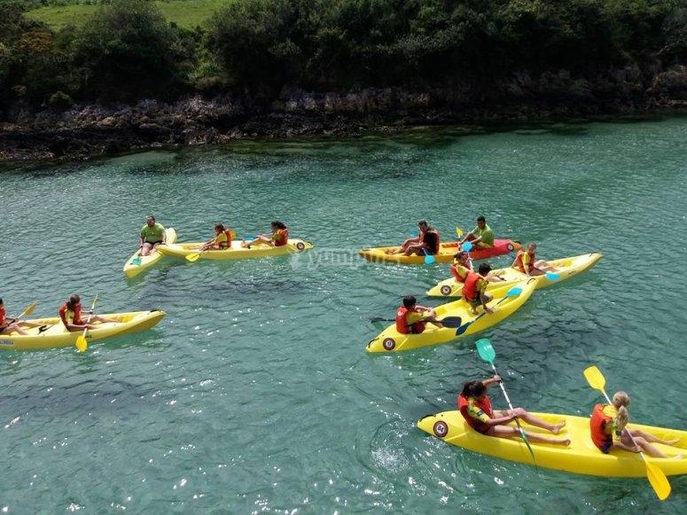Giro in kayak a Llanes
