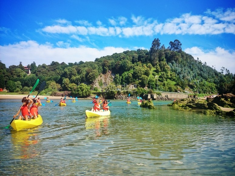 Kayak nell'estuario