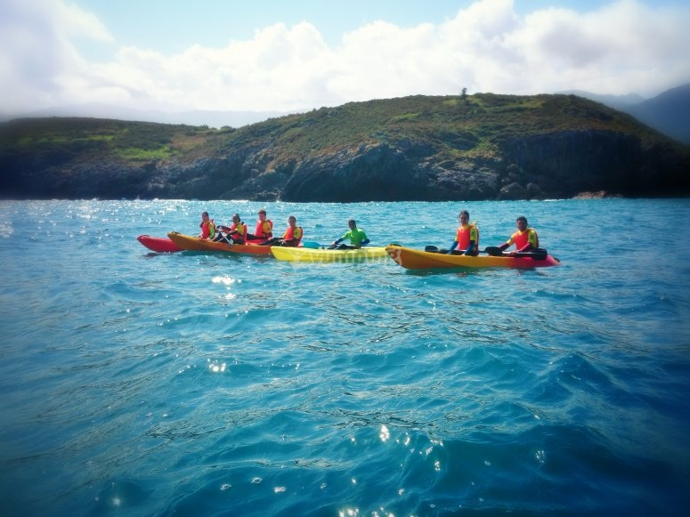 Gita in kayak per gruppi nelle Asturie