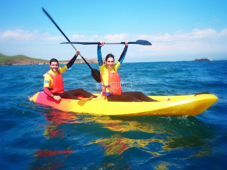 Gita in kayak attraverso Llanes