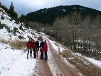 Senderismo en la nieve