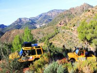 Convertible SUVs through the Valencian mountains
