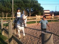 Riding class on the track
