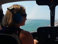 A bordo del helicoptero