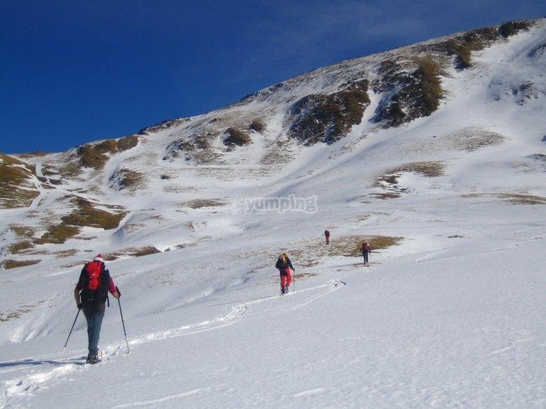 Snowshoes route