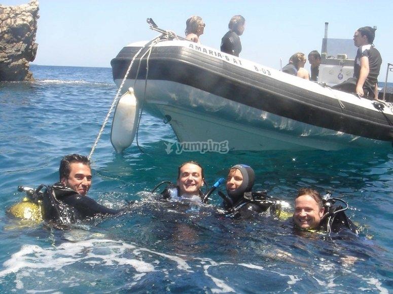Diving baptism