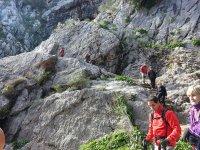 Bajando por la ladera