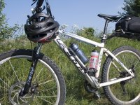 Bicicleta para ruta por el monte