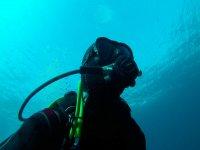 Unos metros bajo el agua
