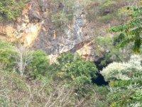 Hidden cave between the trees