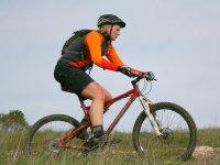Cycling along stony roads