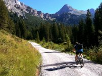 Pedaling towards the mountain