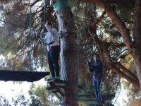 Saliendo de la pasarela de madera en La Juliana
