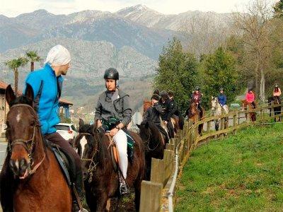 1小时骑马穿越Celorio的景观