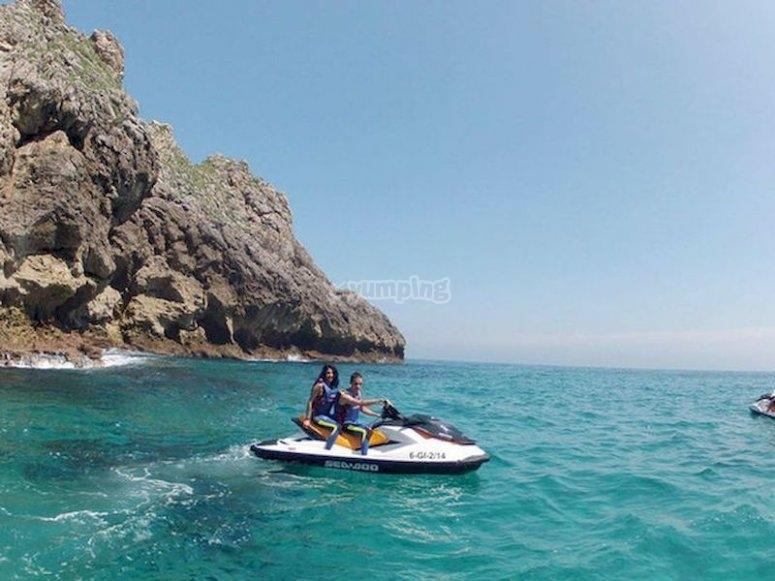 Salir de excursión por la Costa de los Dinosaurios en moto de agua